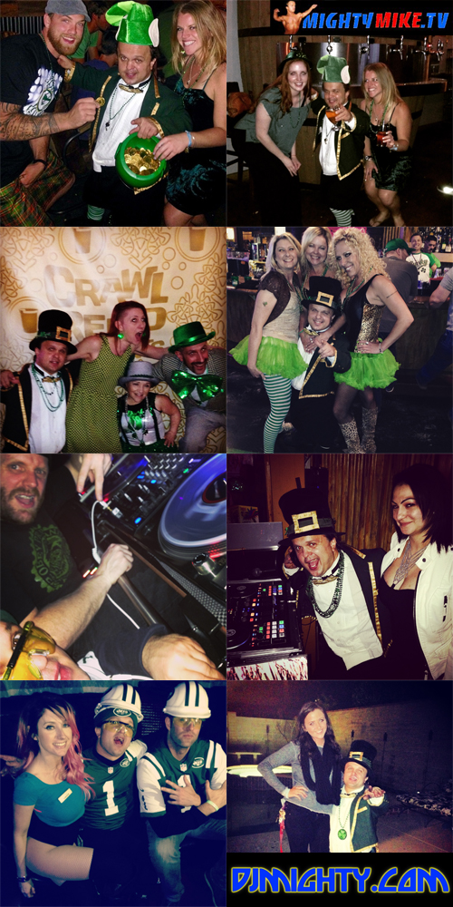 Leprechaun at The Canyon Sports Pub & Grill Ladies St.Pattys party, Barrel Republic San Diego midget mini celebration Djin Dancin Mixes Liam's Irish Pub San Bernardino, hire little people, dwarf Dj Mighty Mike Midget, Irish green beer with ladies cheers. New York Jets Bachelor Party Lake Tahoe at Opal Ultra Lounge to Reno Leprechaun Crawl at Silver Legacy to Hard Rock Casino Las Vegas Stag.