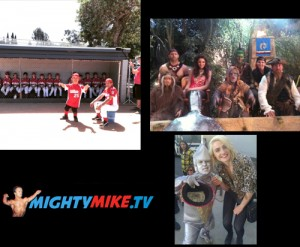 Playing Dwarf Actor Movie and Tv and Commercial roles in Baseball Commercial and the Smurfs Movie and Tv Show Pair Of Kings. Midget Actor Mighty Mike.